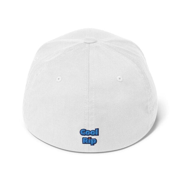 White Crispin / Cool Rip Twill Closed-Back Flexfit Hat - BACK