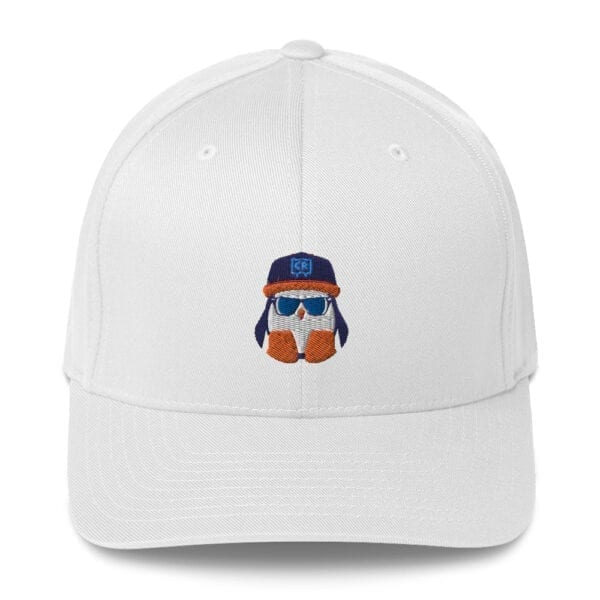 White Crispin / Cool Rip Twill Closed-Back Flexfit Hat