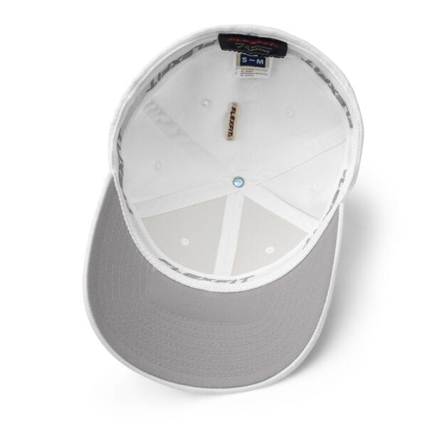 White Closed-Back Structured Cap - INSIDE