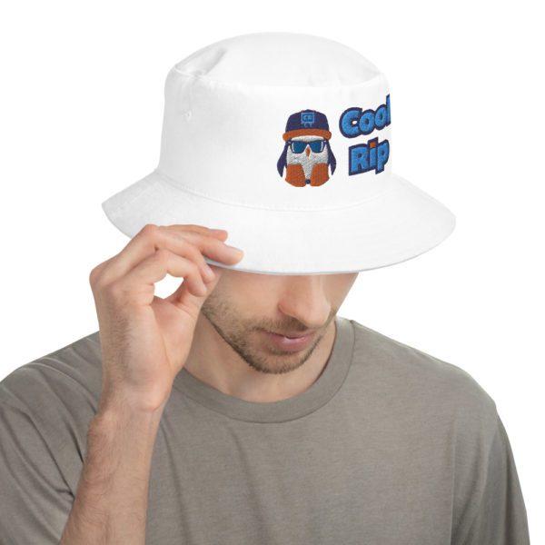 White Cool Rip Bucket Hat – 1