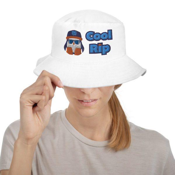 White Cool Rip Bucket Hat - 2